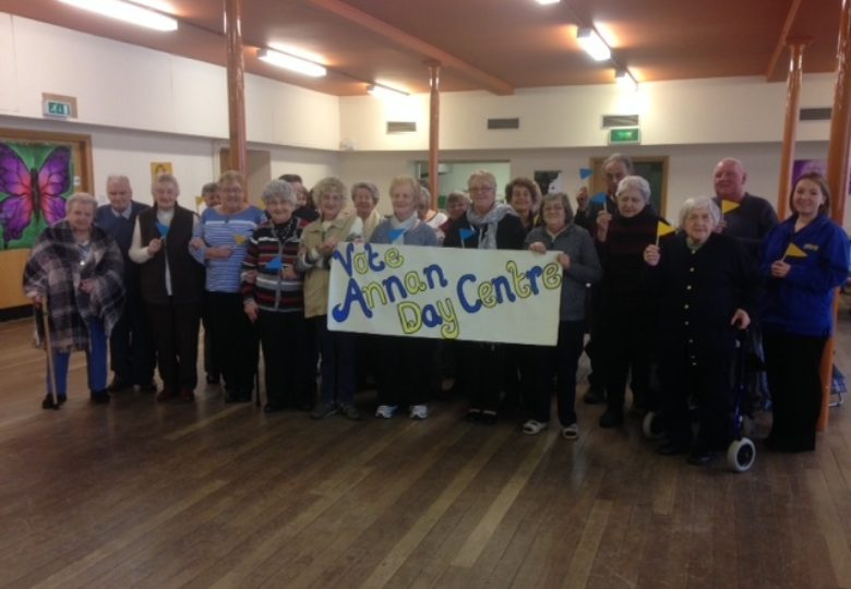 Participants of Annan Day Centre prevention of isolation of older people