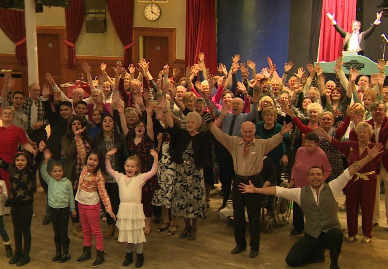 Participants of All Together Now – The Ragroof Players building bridges