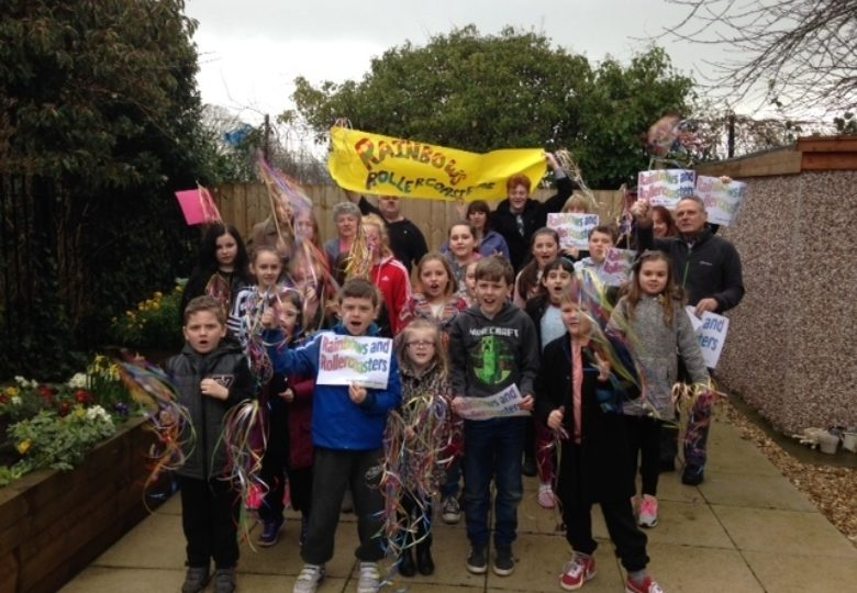"Participants of Sunderland Young Carers ""Rainbows and Rollercoasters"" Project"