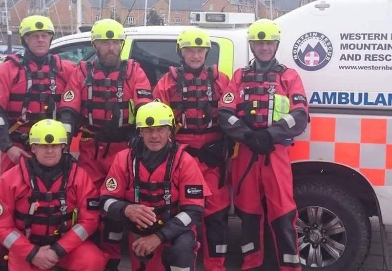 Participants of Western Beacons Mountain Search and Rescue Water Safety