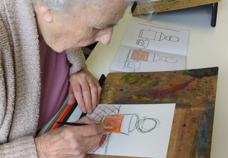 Participants of Art in a Suitcase (structured art class for people living with dementia)