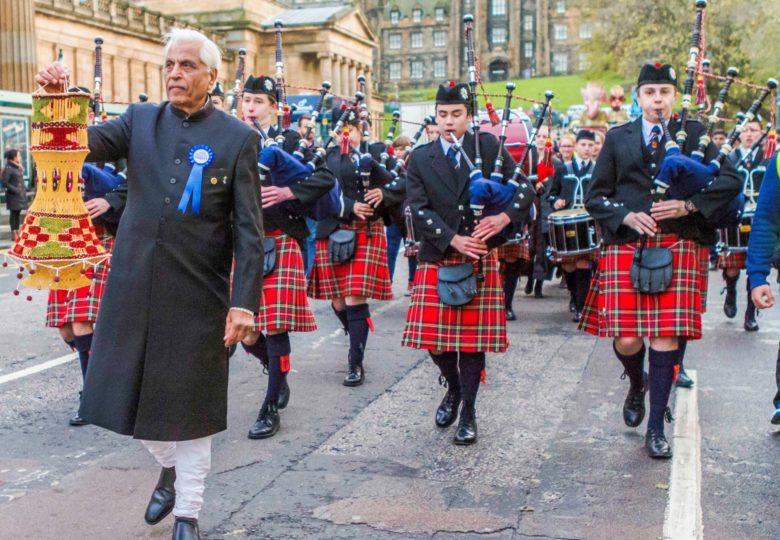 Cyfranogwyr Edinburgh Diwali