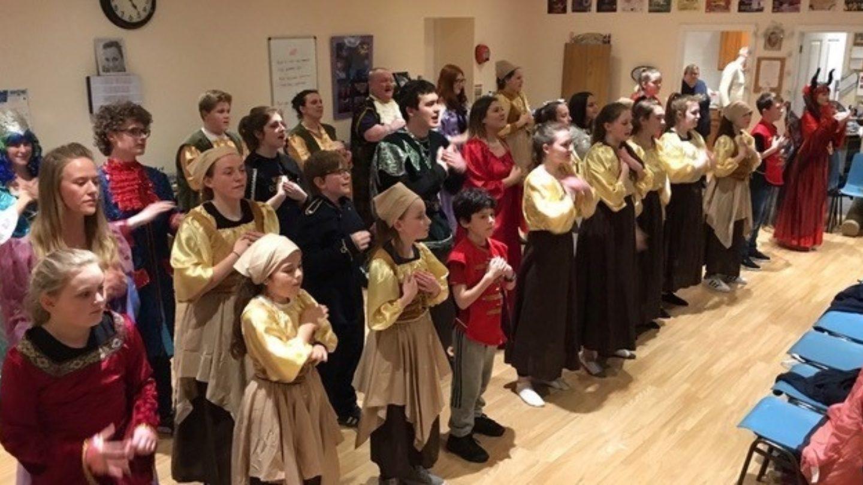 Participants of Buckie Community Theatre Arts Hub